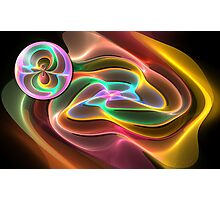 Swirling Gnarl with Orb Photographic Print