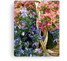 Spring in a Basket Canvas Print