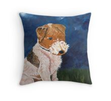 Fox The Dog Throw Pillow
