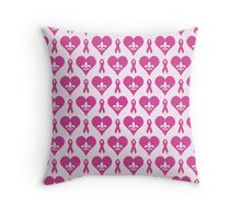 Think Pink Hearts and Fleur de Lis Pattern Throw Pillow