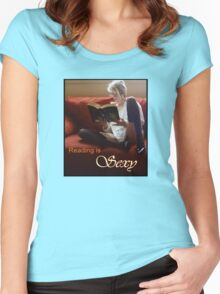 Reading Is Sexy tee Women's Fitted Scoop T-Shirt