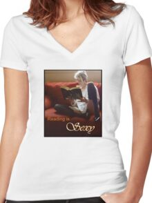Reading Is Sexy tee Women's Fitted V-Neck T-Shirt