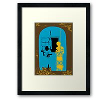 African Berimbau at Play Framed Print