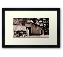 Travel Back in TIme. Framed Print