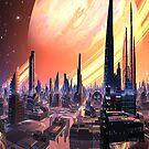 Exquisita City - Planet Calvos by SpinningAngel
