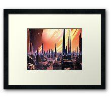 Exquisita City - Planet Calvos Framed Print