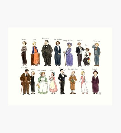 Downton Abbey portraits Art Print