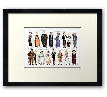 Downton Abbey portraits Framed Print