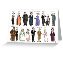 Downton Abbey portraits Greeting Card