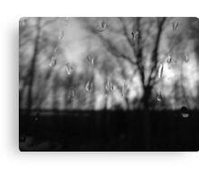 Grey, rainy Saturday Canvas Print