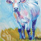 The Luminary - Acrylic Cow Painting by MikeJory