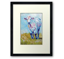 The Luminary - Acrylic Cow Painting Framed Print