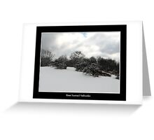 Snow covered trees on a knoll Greeting Card