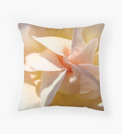 Spiral Rose art Floral Peach Pink Rose Flower Baslee Throw Pillow