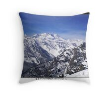 monte rosa Throw Pillow