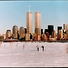 Skiing in liberty state park January 2000 by Danny  Daly