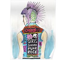 Girls Invented Punk Rock Poster