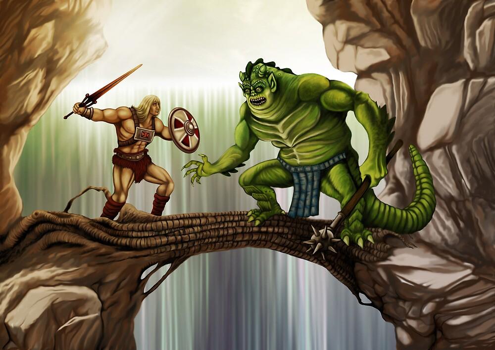 He-Man versus Whiplash by Crusader