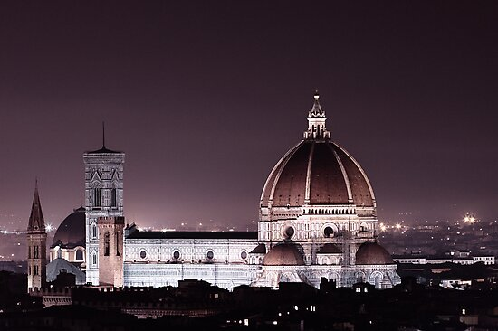 Duomo Florence at night by Sergey Martyushev