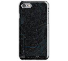 USGS Topo Map Oregon Ketchum Reservoir 20110809 TM Inverted iPhone Case/Skin
