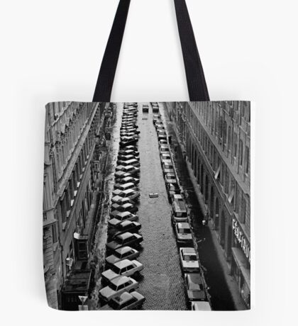 Budapest streetscape after the rain Tote Bag