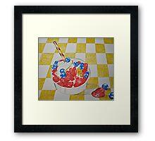 Berry sundae Framed Print