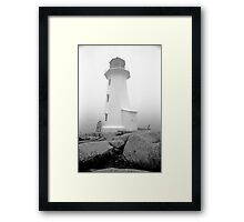 Lighthouse at Peggys Cove Framed Print