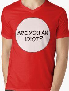MANGA BUBBLES - ARE YOU AN IDIOT? Mens V-Neck T-Shirt