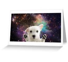 Puppy Galaxy Greeting Card