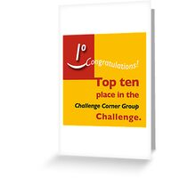 Top ten CCG banner Greeting Card