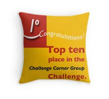 Top ten CCG banner Throw Pillow