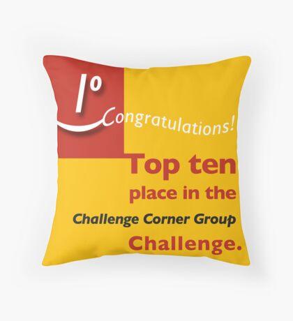 Top ten CCG banner Throw Pillow