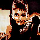Audrey Hepburn in pop art by db artstudio by Deborah Boyle