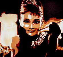 Audrey Hepburn in pop art by db artstudio by Deborah Boyle