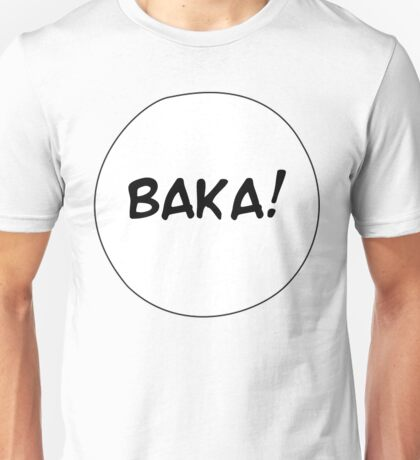 MANGA BUBBLES - BAKA! Unisex T-Shirt