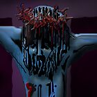 Blue Christ's face by Dulcina