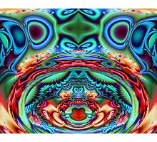 Psychedelic Cow Kisses Photographic Print