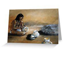 Hopi pottery maker Greeting Card