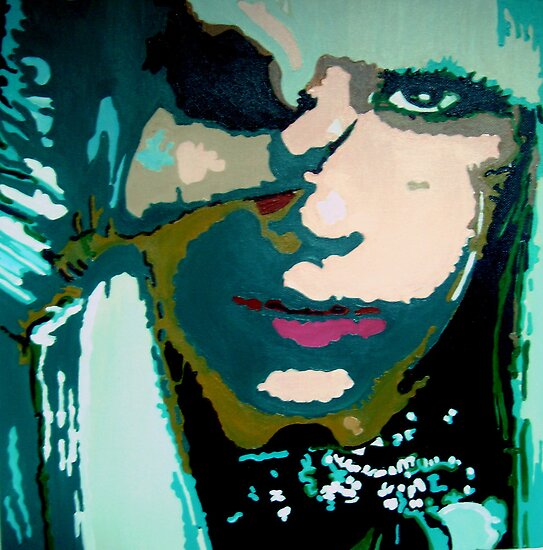 Lady Ga Ga in pop art by db artstudio by Deborah Boyle