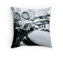 The View From The Handlebars Throw Pillow