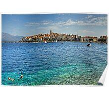 Swimming in Korčula Poster