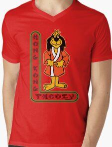 Hong Kong Phooey Chinatown Neon Sign Mens V-Neck T-Shirt