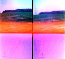 Lomo, Power Lines - Denmark by Barnewitz