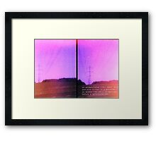 Lomo, Power Lines - Denmark  Framed Print
