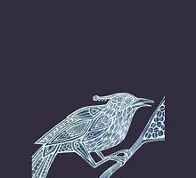 Totem Bird  Mens V-Neck T-Shirt