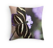 Zebra Longwings  Throw Pillow