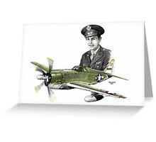 """Solid Citizen"" - Capt. Richard H. Fleischer Greeting Card"