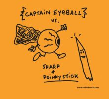 Captain Eyeball versus Sharp and Poinky Stick T shirt by Ollie Brock