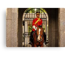 Mounted Guard Canvas Print