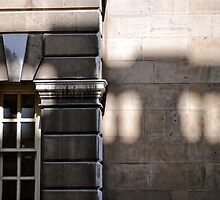 Balcony shadow by richard  webb